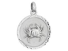 Médaille argent rhodié Cancer