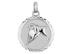 Médaille argent rhodié Bélier