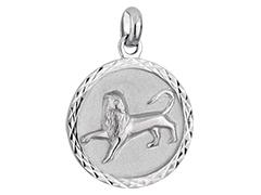 Médaille argent rhodié Lion