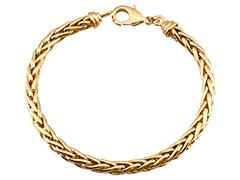 Bracelet plaqué or maille palmier