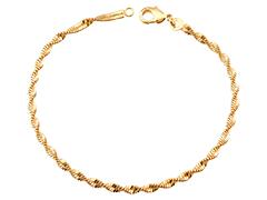 Bracelet plaqué or maille vrillée