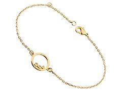 Bracelet plaqué or et oxydes