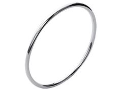 Bracelet jonc argent 3 x 62 mm