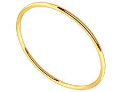 Bracelet jonc plaqué or 62 mm