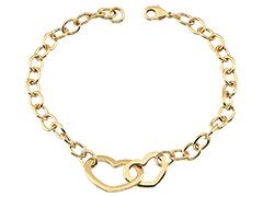 Bracelet plaque or Coeurs
