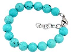 Bracelet pierres de synthèse et acier