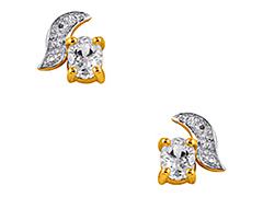 Boucles doreille plaqué or et oxydes