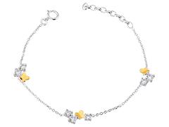 Bracelet argent rhodié Papillons