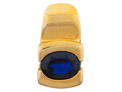 Pendentif plaqué or et pierre de synthèse