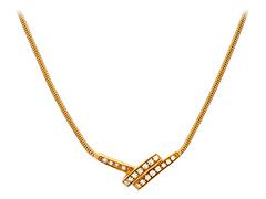 Collier plaqué or et oxydes