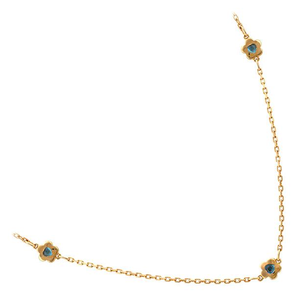 Collier plaqué or et pierres de synthèse