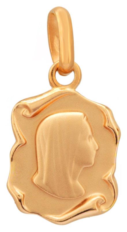 Médaille Vierge en plaqué or