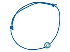 Bracelet tissu bleu et oxyde