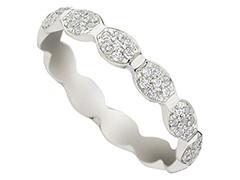 Alliance or blanc 9K et diamants 0.33 ct