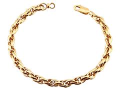 Bracelet or jaune 9k forçat double 18 cm
