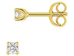 Boucles doreille or jaune et diamant