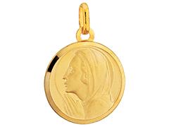 Médaille or jaune Vierge