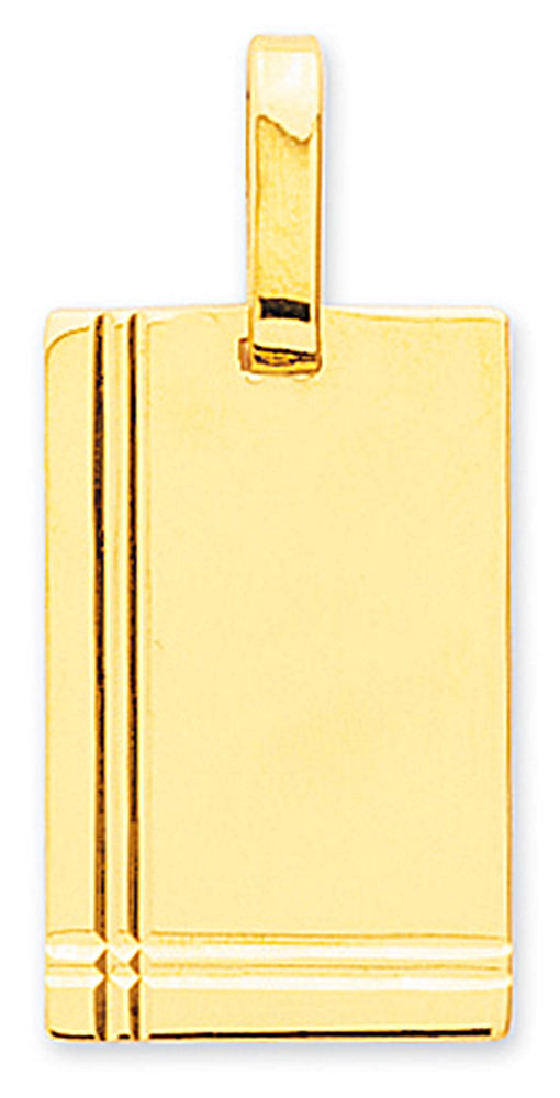 Médaille or jaune rectangulaire