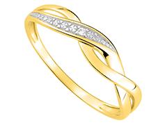 Bague or jaune et diamant