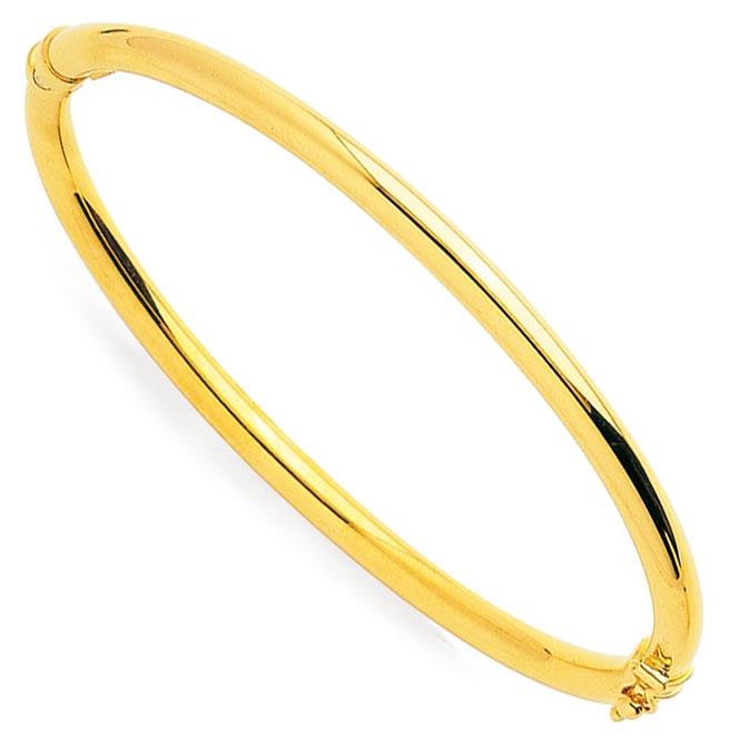Bracelet jonc or jaune 9K