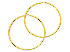 Créoles or jaune 50 mm