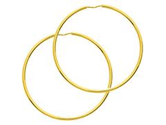 Créoles or jaune 41 mm