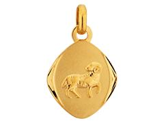 Médaille or jaune Bélier
