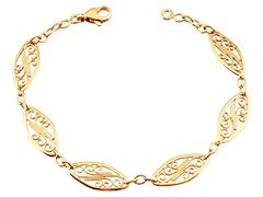 Bracelet or jaune 9K maille filigrane