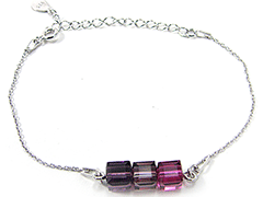 Bracelet Indicolite BR-3CARRE-204