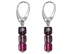 Boucles doreille Indicolite DO-3CARRE-204